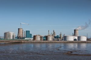 The Saltend Industrial Park, pictured from the Humber.