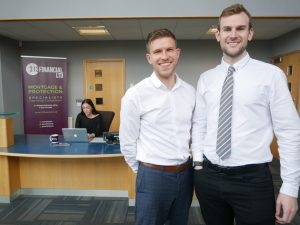 Jordan Sanders (left) and Paul Gray have grown their business massively during an incredible two years