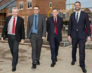 Cllr. Kevin Shaw, Durham County Council Portfolio Holder for Strategic Housing and Assets; Cllr. Carl Marshall; Ian Prescott, Land and Partnerships Director, Keepmoat Homes and John Gallagher, Operations Director, Keepmoat Homes.