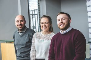 New starters at 313 Financial (L-R) Paul Cooksley, Rachael Bolam and Stephen Dixon