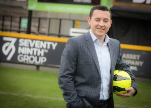 Curtis at the ground where he hopes his company's sponsorship will improve the prospects of junior players.